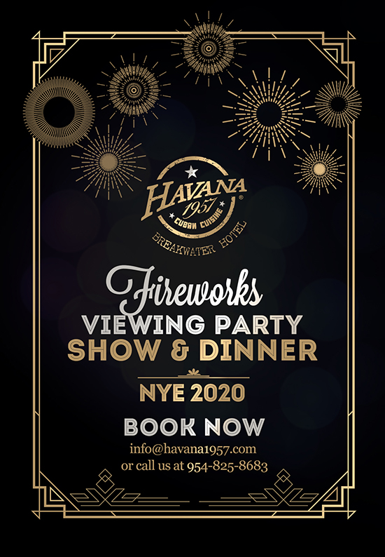 New Year's Eve Show and Dinner at Havana 1957