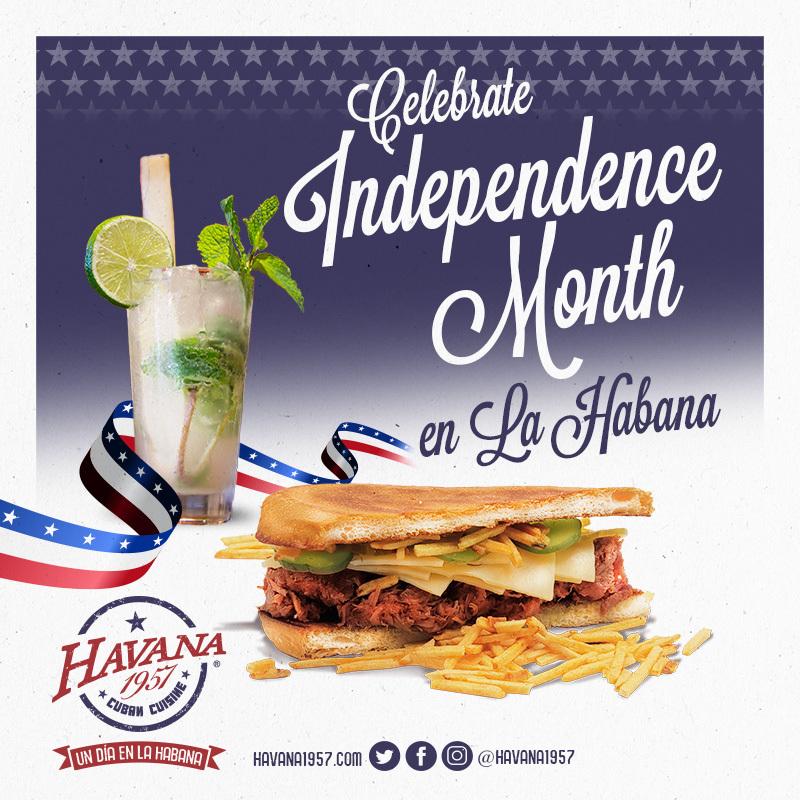 Celebrate Independence Month en La Havana